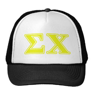 Sigma Chi Yellow Letters Trucker Hat