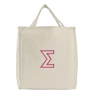 Sigma Column (Part3) Embroidered Tote Bag