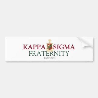 Sigma de Kappa Etiqueta De Parachoque