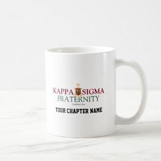 Sigma de Kappa Taza Básica Blanca