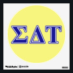 """Sigma Delta Tau Blue Letters Wall Sticker<br><div class=""""desc"""">Check out these official Sigma Delta Tau designs! Personalize your own Greek merchandise on Zazzle.com! Click the Customize button to insert your own name, class year, or club to make a unique product. Try adding text using various fonts &amp; view a preview of your design! Zazzle&#39;s easy to customize products...</div>"""