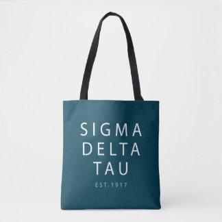 Sigma Delta Tau   Modern Type Tote Bag