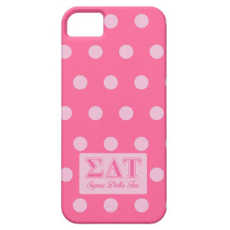 Sigma Delta Tau Pink Letters iPhone 5 Covers