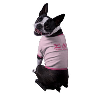 Sigma Delta Tau Pink Letters Dog Clothes