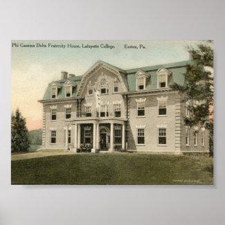 Sigma Deuteron's House at Lafayette print