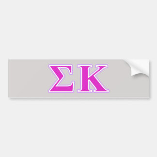 Sigma Kappa Lavender and Pink Letters Car Bumper Sticker