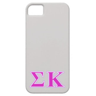 Sigma Kappa Lavender and Pink Letters iPhone 5 Covers