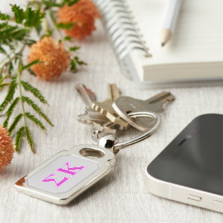 Sigma Kappa Lavender and Pink Letters Key Chains