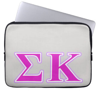 Sigma Kappa Lavender and Pink Letters Laptop Sleeves