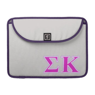 Sigma Kappa Lavender and Pink Letters MacBook Pro Sleeve