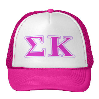 Sigma Kappa Lavender and Pink Letters Mesh Hat