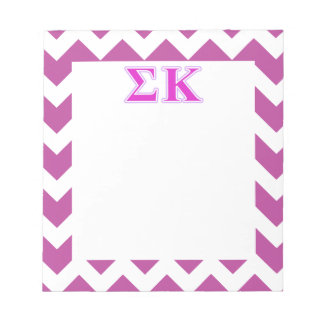 Sigma Kappa Lavender and Pink Letters Memo Notepad
