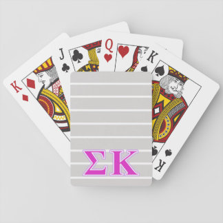 Sigma Kappa Lavender and Pink Letters Deck Of Cards