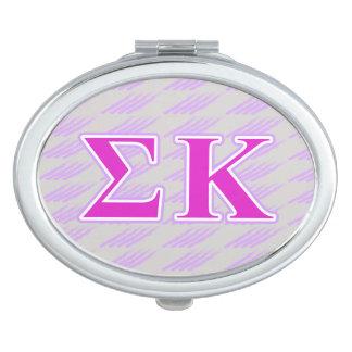 Sigma Kappa Lavender and Pink Letters Vanity Mirror