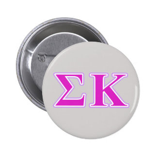Sigma Kappa Lavender and Pink Letters Pinback Button