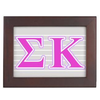 Sigma Kappa Lavender and Pink Letters Keepsake Box