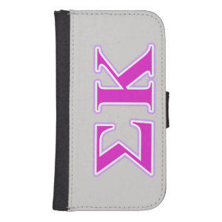 Sigma Kappa Lavender and Pink Letters Phone Wallets