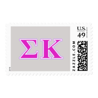 Sigma Kappa Lavender and Pink Letters Postage Stamp