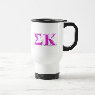 Sigma Kappa Lavender and Pink Letters Travel Mug