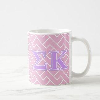 Sigma Kappa Lavender Letters Coffee Mug