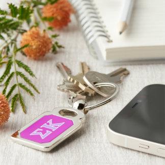 Sigma Kappa Lavender Letters Key Chain