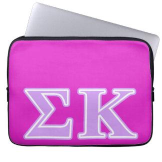 Sigma Kappa Lavender Letters Laptop Computer Sleeve