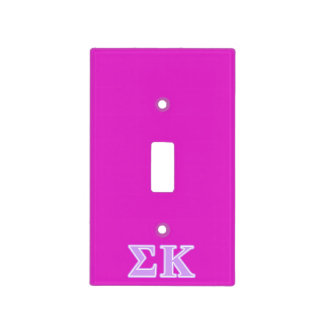 Sigma Kappa Lavender Letters Switch Plate Cover