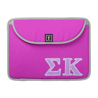 Sigma Kappa Lavender Letters Sleeves For MacBook Pro