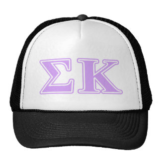 Sigma Kappa Lavender Letters Mesh Hats