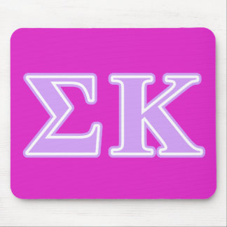 Sigma Kappa Lavender Letters Mousepad