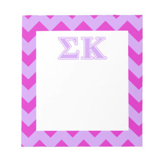 Sigma Kappa Lavender Letters Memo Note Pads