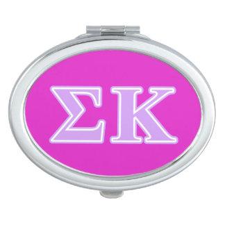 Sigma Kappa Lavender Letters Travel Mirror