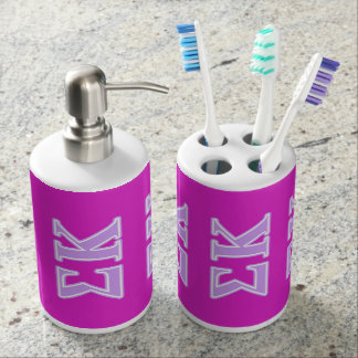 Sigma Kappa Lavender Letters Soap Dispensers