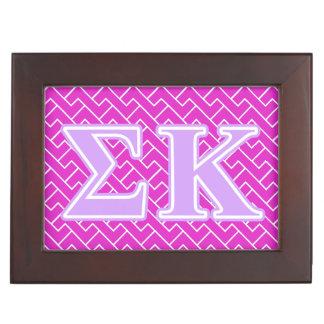 Sigma Kappa Lavender Letters Memory Box