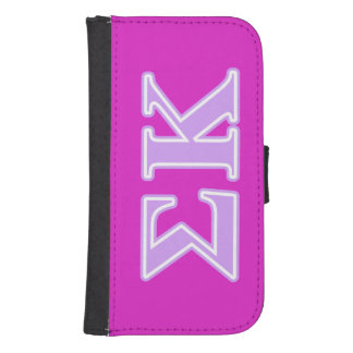 Sigma Kappa Lavender Letters Galaxy S4 Wallet Case