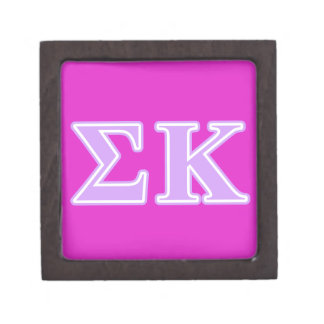 Sigma Kappa Lavender Letters Premium Gift Boxes