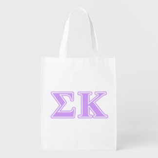 Sigma Kappa Lavender Letters Reusable Grocery Bag