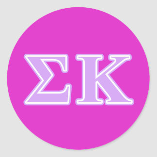Sigma Kappa Lavender Letters Stickers