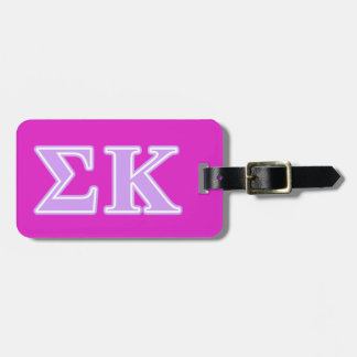 Sigma Kappa Lavender Letters Tags For Luggage