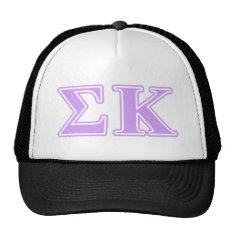 Sigma Kappa Lavender Letters Trucker Hat at Zazzle