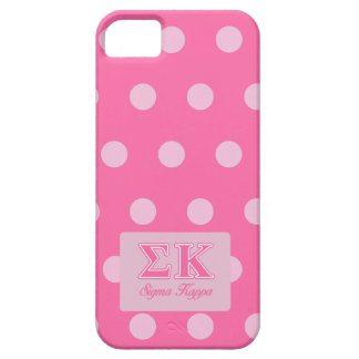 Sigma Kappa Light Pink Letters iPhone 5 Cases