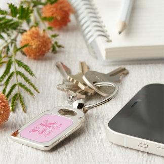 Sigma Kappa Light Pink Letters Key Chains