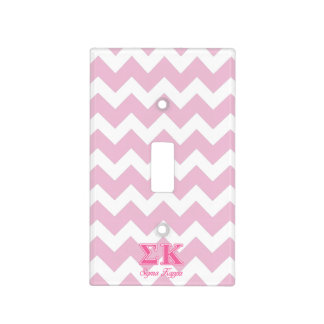 Sigma Kappa Light Pink Letters Switch Plate Covers
