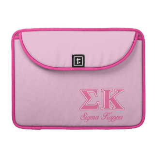 Sigma Kappa Light Pink Letters Sleeve For MacBook Pro