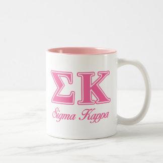 Sigma Kappa Light Pink Letters Mugs