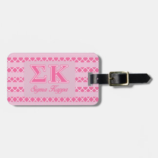 Sigma Kappa Light Pink Letters Tags For Luggage