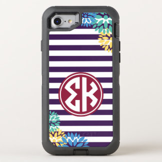 Sigma Kappa | Monogram Stripe Pattern OtterBox Defender iPhone 8/7 Case