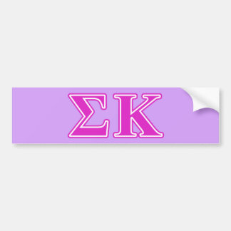 Sigma Kappa Pink Letters Car Bumper Sticker