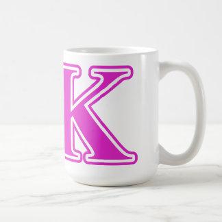 Sigma Kappa Pink Letters Coffee Mug