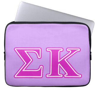 Sigma Kappa Pink Letters Computer Sleeves